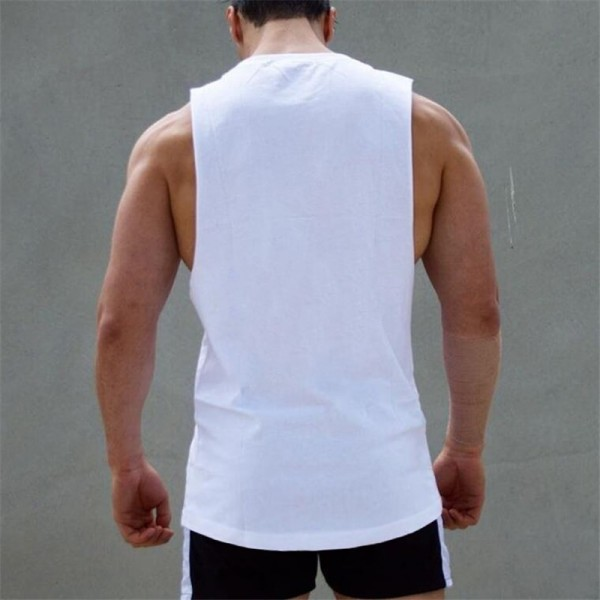 Bodybuilding Stringer Tank Tops Mens Cotton Sportswear Tanktops vest Fitness Men gyms Clothing sleeveless shirt Extra Image 3