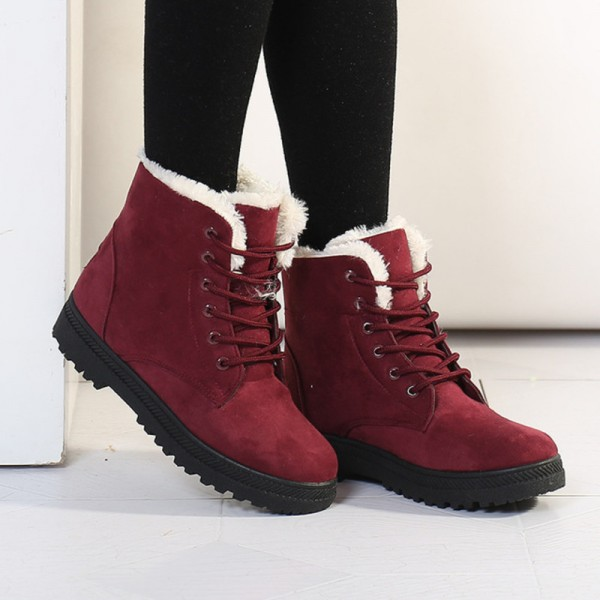 Botas femininas women boots new arrival women winter boots warm snow boots fashion platform shoes women ankle boots Extra Image 2
