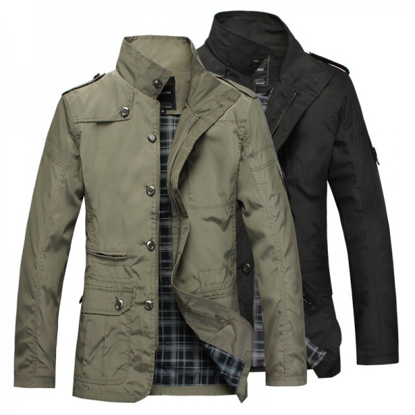 Buy Brand Mens Slim Jacket Coat Fashion Jaqueta Business Casual