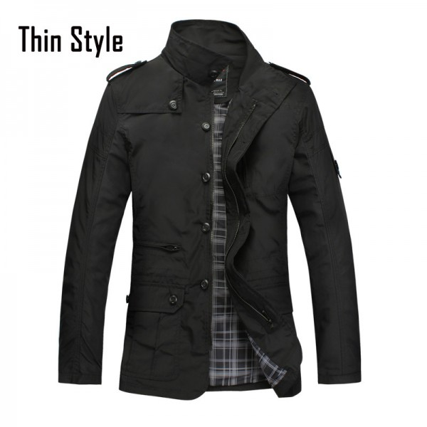 Brand Mens slim Jacket coat Fashion jaqueta Business Casual Coats for men chaqueta male jackets Outerwear Veste Homme Extra Image 3
