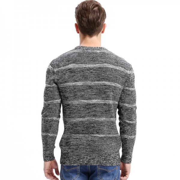 Brand New Autumn Winter Men Sweaters Fashion Style Patchwork Knitted Quality Pullover Men O neck Casual Sweater Extra Image 2
