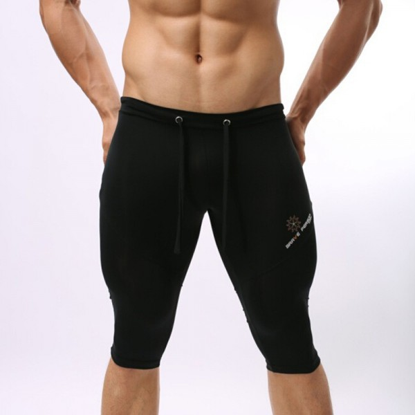 Brave person Swimwear Men Tight Long Swim Shorts Men Swimsuit Swimming Trunks Multifunction Compression Short