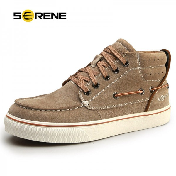 British Style Suede Men Boots Size 38 44 Lace Up Ankle Male Shoes Teenager Rubber Winter Autumn Non Slip Footwear Extra Image 1