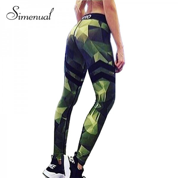 Camouflage Striped Fitness Leggings Pants Push Pu Elastic Leggings For WOmen Authentic Clothing Women Thumbnail