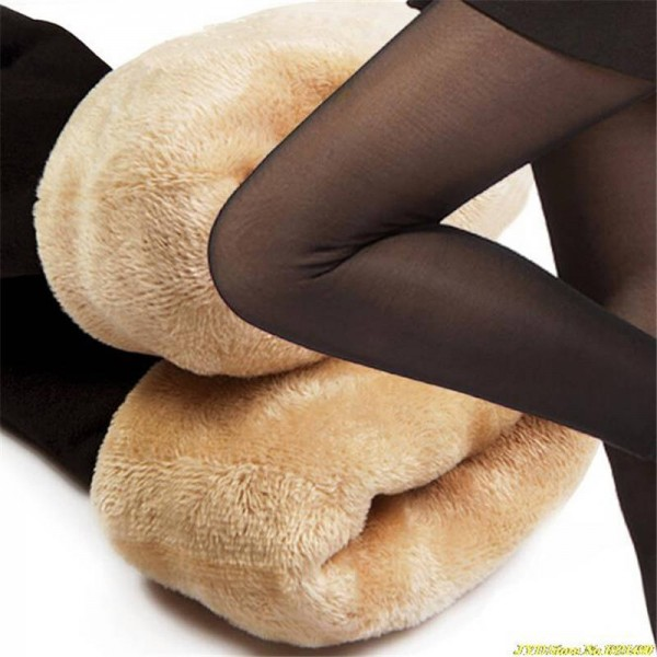 Cashmere Velvet Leggings Thick Warm Winter Autumn Pants Flexible Elastic Women Thumbnail