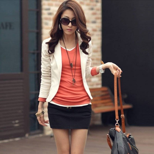 Casual Jacket Long Sleeve One Button Blazer Suit For Women New Stylish Thumbnail