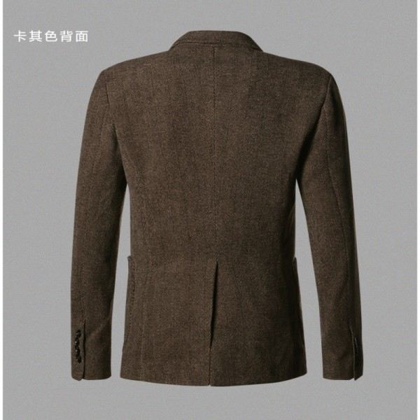 Casual Men Blazer business Slim fit Costume Homme Suit Blazer Masculino Male Woolen Suits Jacket blazer hombres Extra Image 6