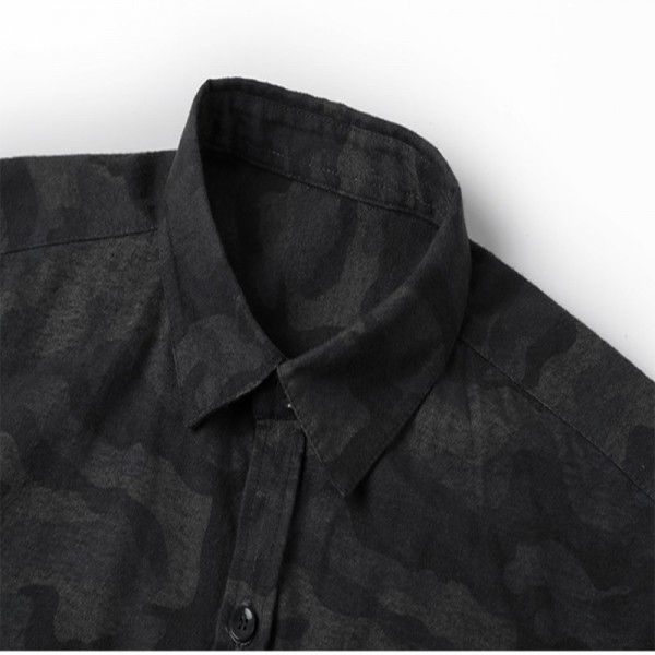 Casual men shirt Camouflage Autumn Men Long Sleeve cotton dress Shirt military homme luxury camisa social masculina Extra Image 5