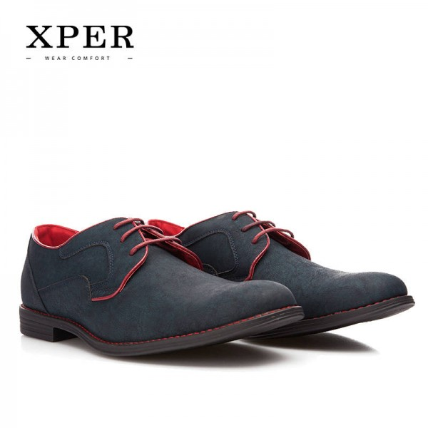 Casual Men Shoes Lace Up Comfortable Wedding Wear Shoes New For Men Thumbnail