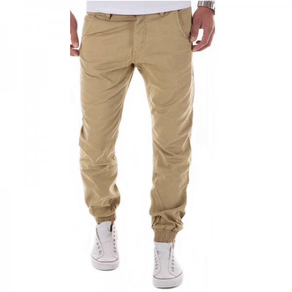 Casual Pants Men Brand Clothing High Quality Spring Long Khaki Pants Elastic Male Trousers For Men Joggers Pants Men Extra Image 1