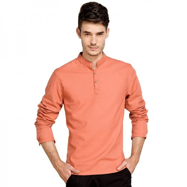 Casual Retro Shirts Men Cotton Linen Loose Fit Man Shirts Long Sleeve Pullover Shirts For Men Clothes Summer Wear Extra Image 4