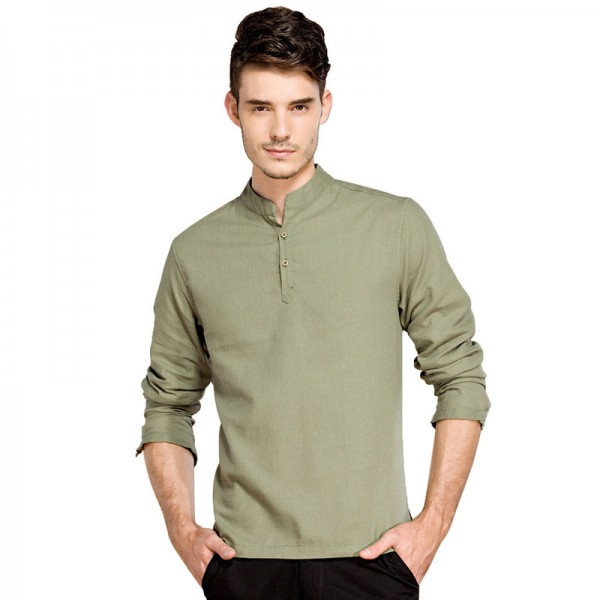 Casual Retro Shirts Men Cotton Linen Loose Fit Man Shirts Long Sleeve Pullover Shirts For Men Clothes Summer Wear Extra Image 6
