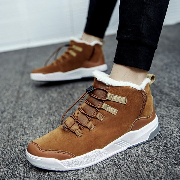 Casual Shoes for Men Medium cut short plush inside EVA Comfort Keep Warm Workout Winter Tide Fashion Shoes for men