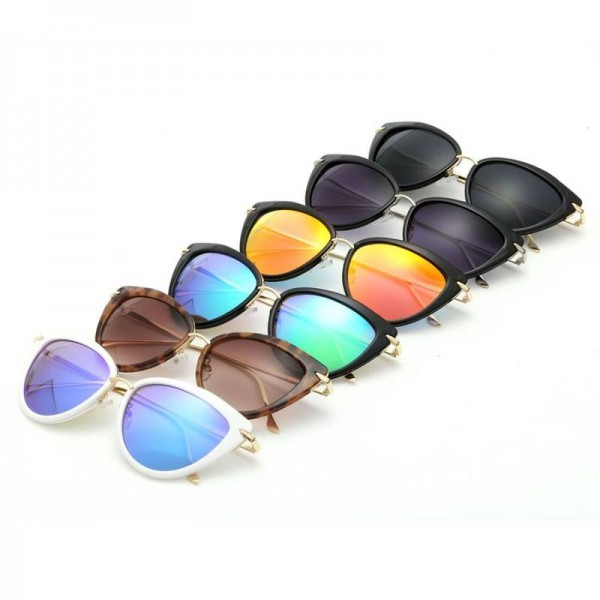 Cat Eye Retro Sunglasses Alloy Temple Designer UV400 Polarized Anti Reflection Designer Shades For Women Extra Image 2