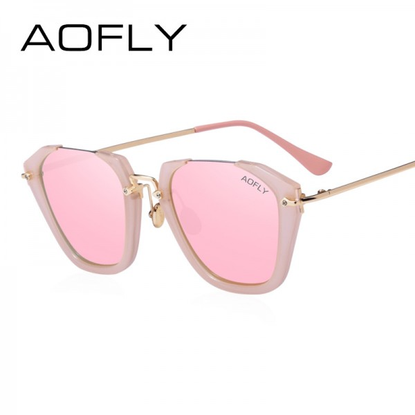 Cat Eye Sunglasses Women Fashion Luxury Original Design Sun Glasses Reflective Mirror Lens Gafas de sol UV400 Extra Image 2