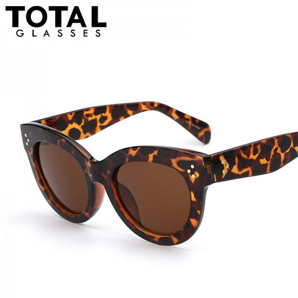 Cateye Sunglasses Designer Retro Vintage Top Quality Women Eyeshades Thumbnail