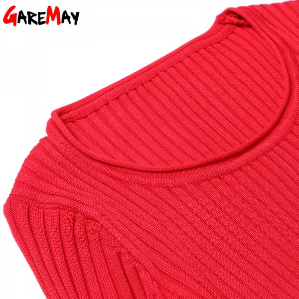 Causal Women Sweater Dress Pullovers O Neck Slim Long Sleeve Sexy Sweater Ladies Elegant Midi Dresses knitted Sweater Extra Image 4