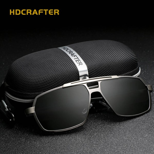 Classic Aluminium Magnesium Mens Sunglasses Square Polarized Sunglasses Driving Eye Accessories For Men Extra Image 1