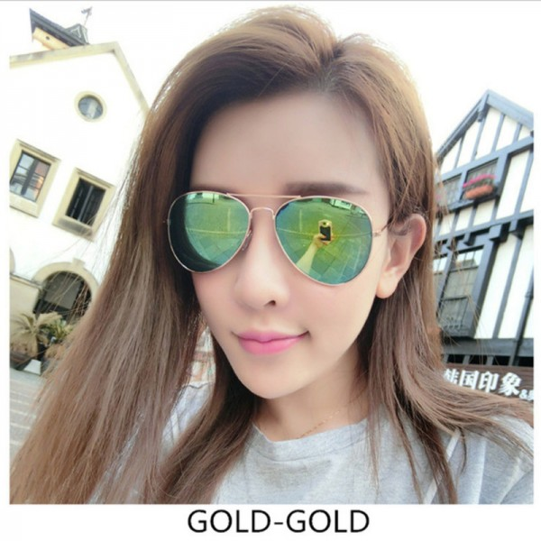 6387fda62 ... Aviation Sunglasses Men Sunglasses Women Driving Mirror Male and Female  Sun glasses Points Pilot Glasses; Color 1 ...