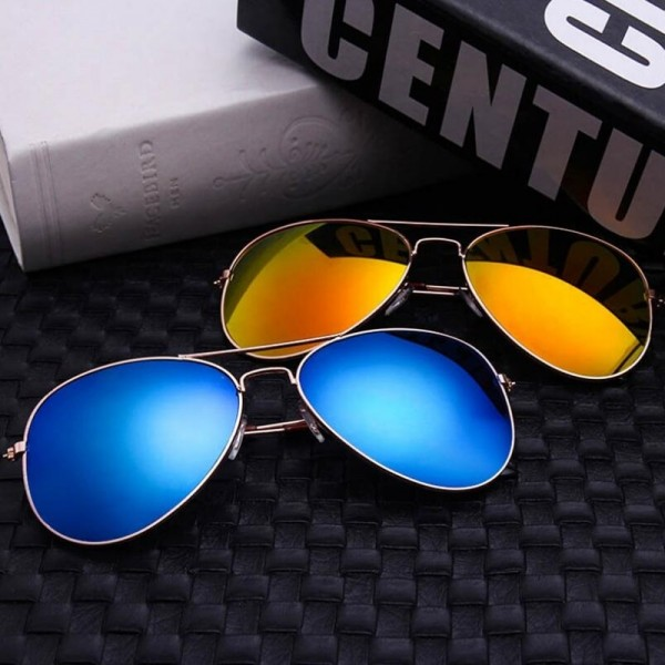Classic Aviation Sunglasses Men Sunglasses Women Driving Mirror Male and Female Sun glasses Points Pilot Glasses Extra Image 4