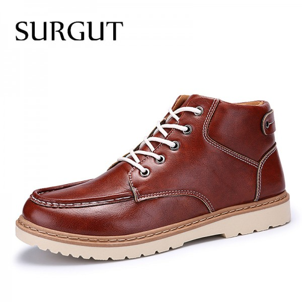 Classic Mens High Quality Breathable Non Slip Autumn Ankle Men Boots Comfortable Winter Waterproof Boots for Men