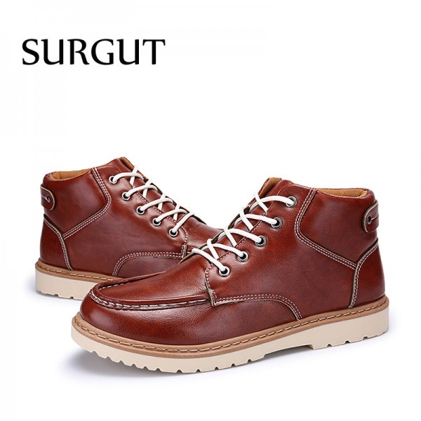 Classic Mens High Quality Breathable Non Slip Autumn Ankle Men Boots Comfortable Winter Waterproof Boots for Men Extra Image 5