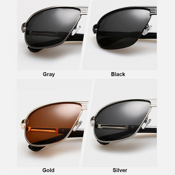Classic Polarized Sunglasses For Men Driving Polaroid Alloy Frame Adult Eyewear Fully Customized Sun Shades Extra Image 3