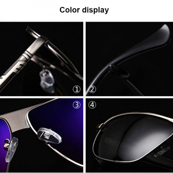 Classic Polarized Sunglasses For Men Driving Polaroid Alloy Frame Adult Eyewear Fully Customized Sun Shades Extra Image 4