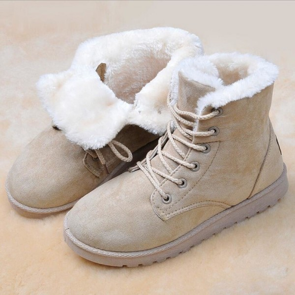 Classic Women Winter Boots Suede Ankle Snow Boots Female Warm Fur Plush Boot Insole High Quality Botas Mujer Extra Image 2