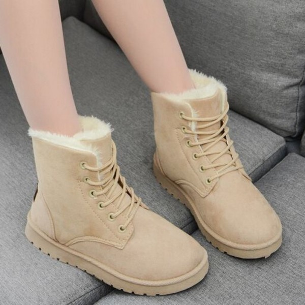 Classic Women Winter Boots Suede Ankle Snow Boots Female Warm Fur Plush Boot Insole High Quality Botas Mujer Extra Image 5