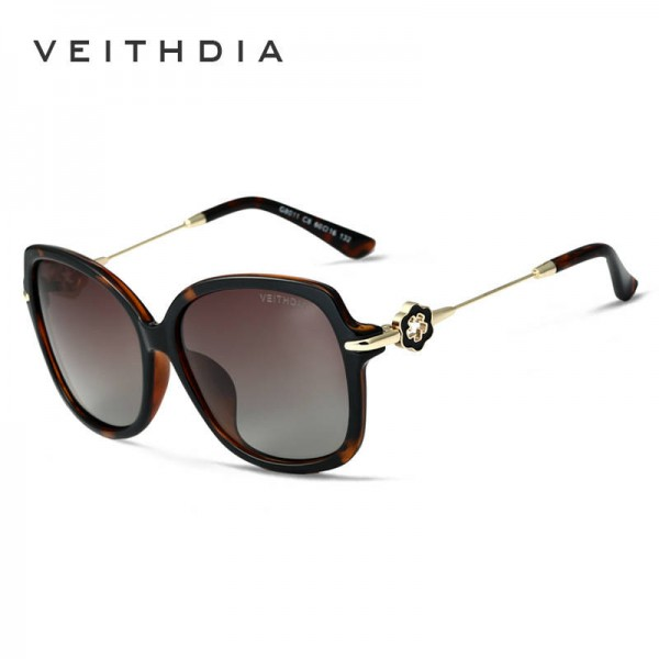 Classic Womens Sunglasses Sexy Ladies Big Frame UV400 Polarized Alloy Frame Anti Reflection HD Sun Shades Extra Image 1