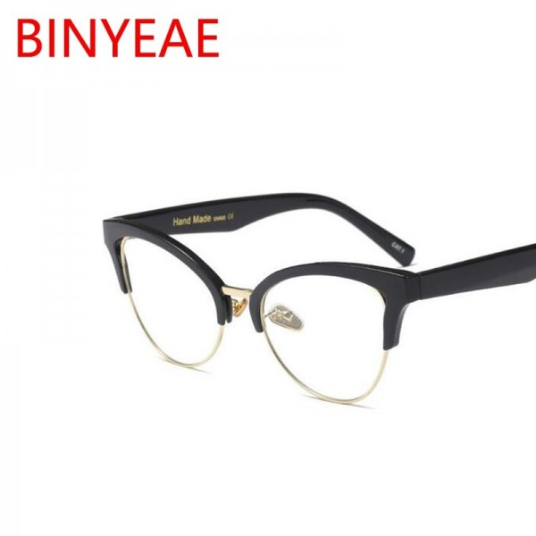 Clear Cat Eye Sunglasses Luxury Transparent Spectacles Luxury Clear Leans Half Frame Women Eyeglasses Extra Image 2