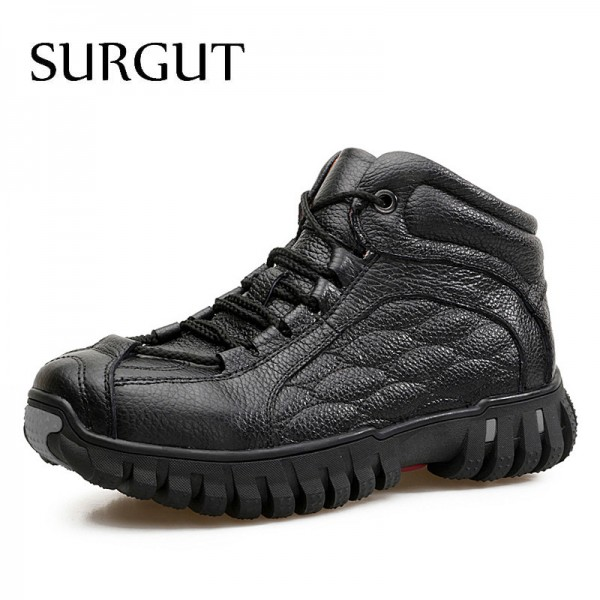 Cold Boots Classic Retro Thickening Boots Trend Warm Fur Quality Winter Ankle Shoes Waterproof High Top Men Boots