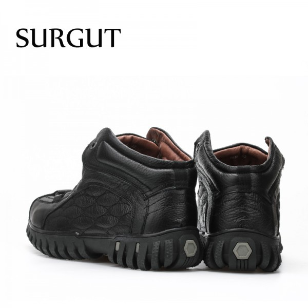 Cold Boots Classic Retro Thickening Boots Trend Warm Fur Quality Winter Ankle Shoes Waterproof High Top Men Boots Extra Image 2