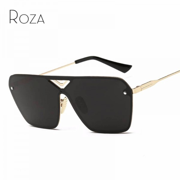 Conjoined Flat Style Sunglasses Alloy Frame UV400 Polarized High Quality Square Pilot Aviator Eye Glasses