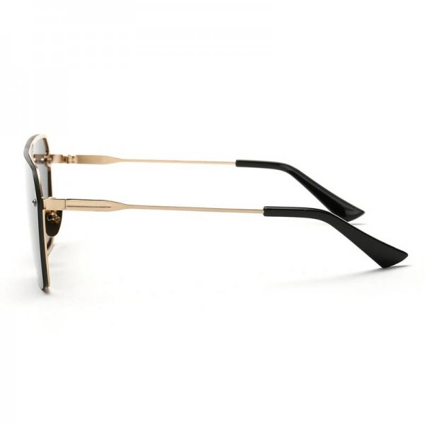 Conjoined Flat Style Sunglasses Alloy Frame UV400 Polarized High Quality Square Pilot Aviator Eye Glasses Extra Image 3