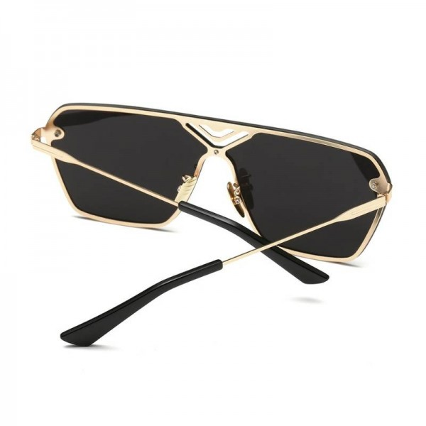 Conjoined Flat Style Sunglasses Alloy Frame UV400 Polarized High Quality Square Pilot Aviator Eye Glasses Extra Image 4