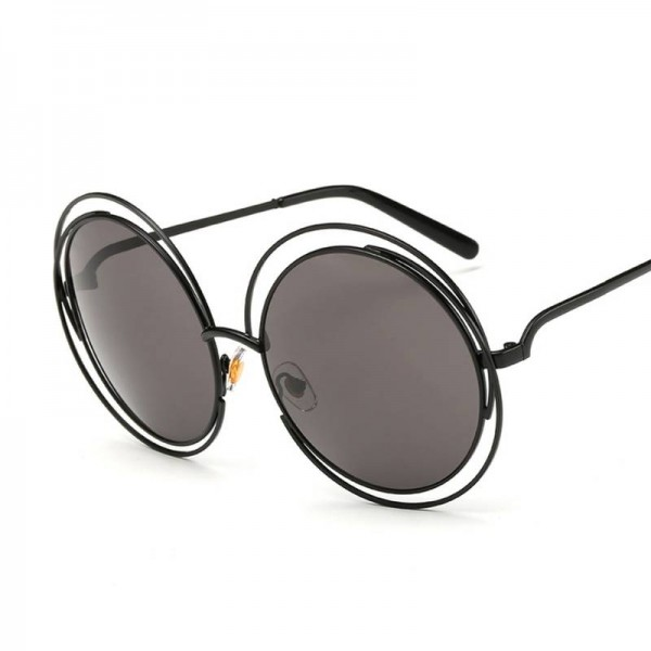 Copper Sunglasses Round Designer Eye Wear New Retro Fashion Eye Shades From Roza For New Trending Ladies Extra Image 2