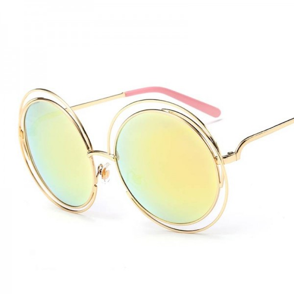 Copper Sunglasses Round Designer Eye Wear New Retro Fashion Eye Shades From Roza For New Trending Ladies Extra Image 5