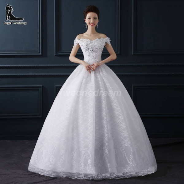 Crystal White Sexy Short Sleeve Lace Up Flower Bride Wedding Sweet ...