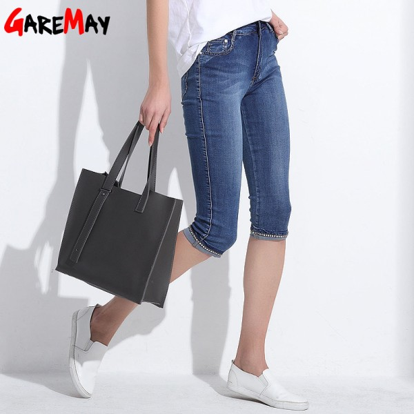 Denim Capri Skinny Jeans Woman Stretch High Waist Jeans Plus Size Short Denim Pants For Women Summer Clothing Extra Image 3