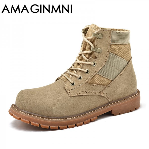Desert Tactical Military Boots Combat Boots Men Shoes Work Outdoor Climbing Men SWAT Army Boot zapatos Genuine Leather