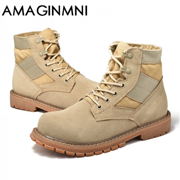 Desert Tactical Military Boots Combat Boots Men Shoes Work Outdoor Climbing Men SWAT Army Boot zapatos Genuine Leather Extra Image 4