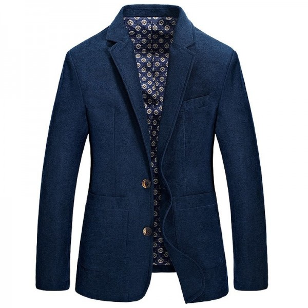 Designer Mens Casual Blazer Brand Fashion Male Fit Slim Jacket Coat Men Blazer Warm Blazer Coat For Men Extra Image 1