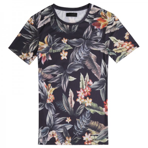 Digital Printing T Shirts For Males Casual Summer Style Flower Printed Short Sleeved Tees Tops Clothing For Men Extra Image 5