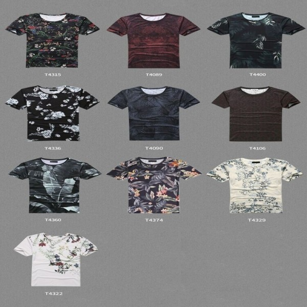 Digital Printing T Shirts For Males Casual Summer Style Flower Printed Short Sleeved Tees Tops Clothing For Men Extra Image 6