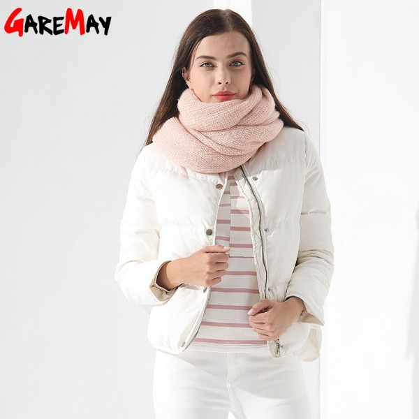 Down Coat Female Jacket Short White Winter Coat Garemay Warm Outwear Clothing For Women Jacket Down Parka Extra Image 4