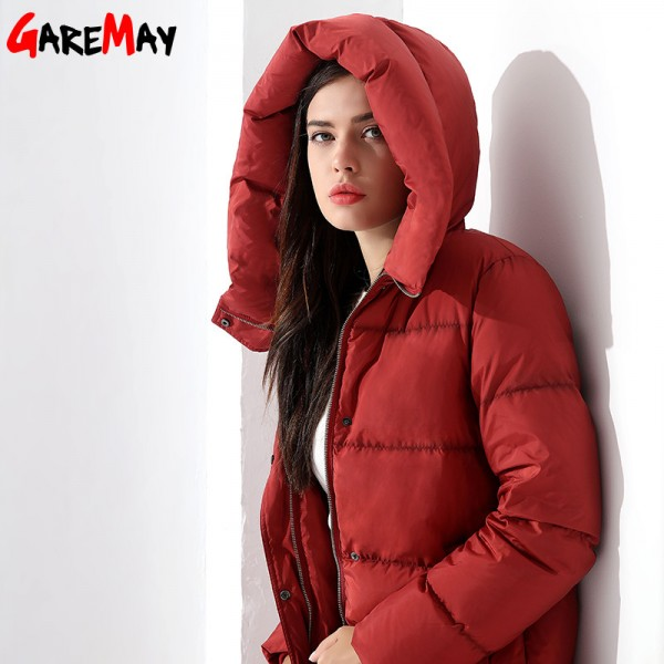 Down Parka Womens Long Down Jackets Winter Femme Coats For Women Outwear Female Long Hooded Coat Feather Extra Image 1
