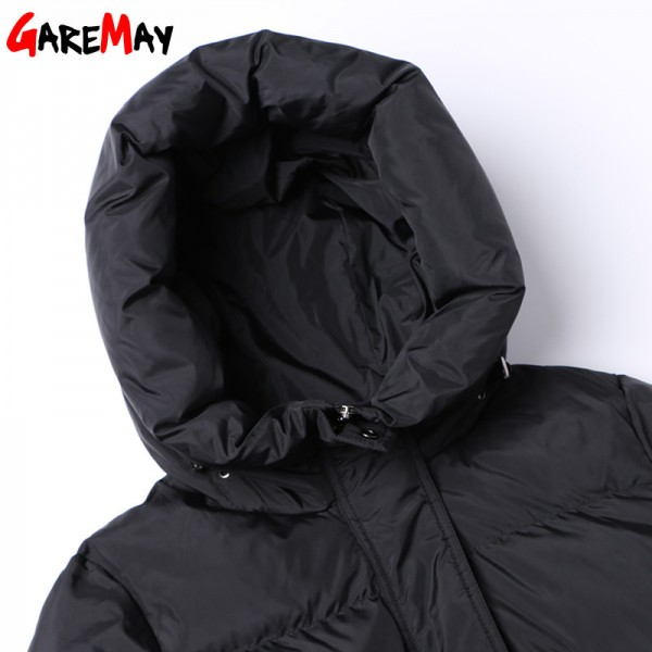 Down Parka Womens Long Down Jackets Winter Femme Coats For Women Outwear Female Long Hooded Coat Feather Extra Image 5