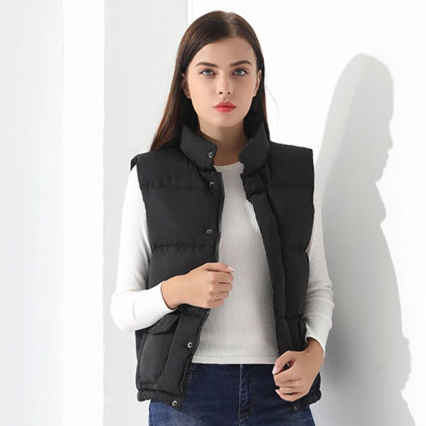 f1ce8d09ad4d Down Vest Women Outwear Female Clothing Thicken Winter Warm White Jacket  Causal Vest Coat Sleeveless Down Parka